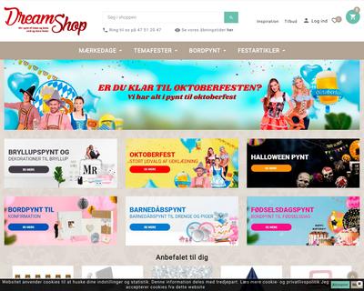 dreamshop2u.dk website