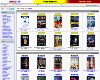 dvdcity.dk website