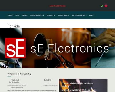 dwlmusik.dk website