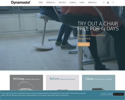 dynamostol.dk website