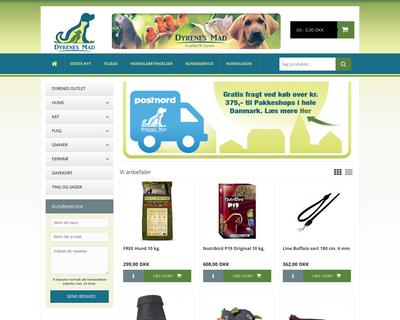 dyrenesmad.dk website