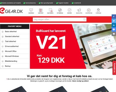 e-gear.dk website