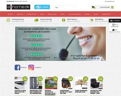 e-home.dk website