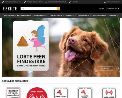 e-skilte.dk website