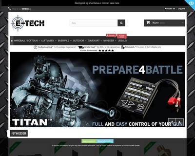e-tech.dk website