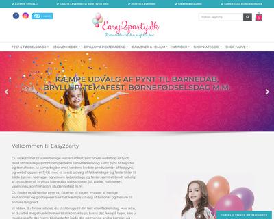easy2party.dk website
