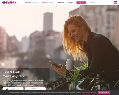 easypark.dk website