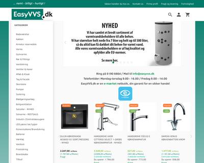easyvvs.dk website