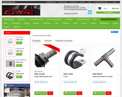 edgeperformance.dk website