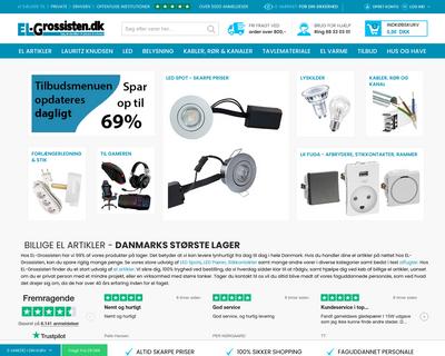 el-grossisten.dk website