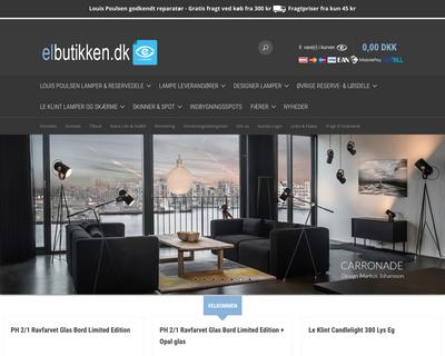 elbutikken.dk website