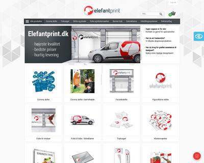 elefantprint.dk website