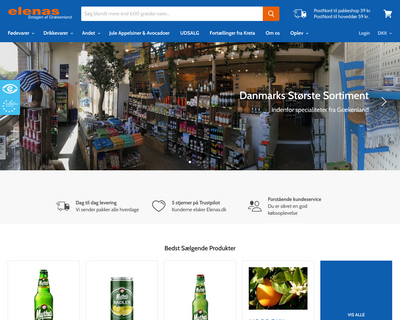 elenas.dk website