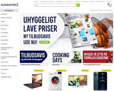 elgiganten.dk website
