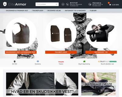 elite-armor.dk website