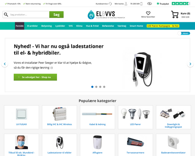 elvvs.dk website