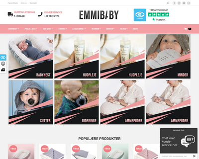 emmibaby.dk website