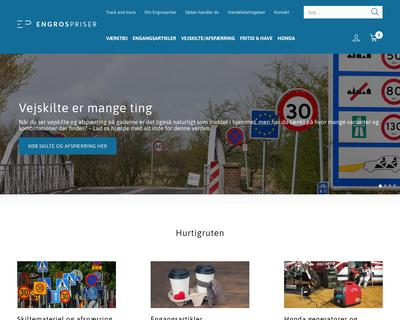 engrospriser.dk website