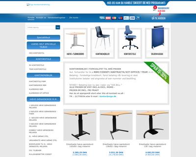 ergo-kontorindretning.dk website