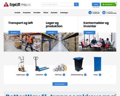 ergolift.dk website