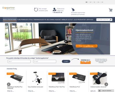 ergopartner.dk website