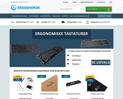 ergoshop.dk website
