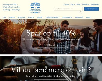 eriksorensenvin.dk website
