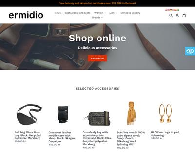 www.ermidio.dk website