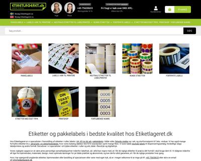etiketlageret.dk website