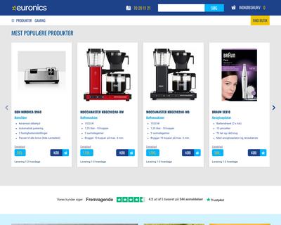 euronics.dk website