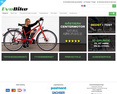 evobike.dk website