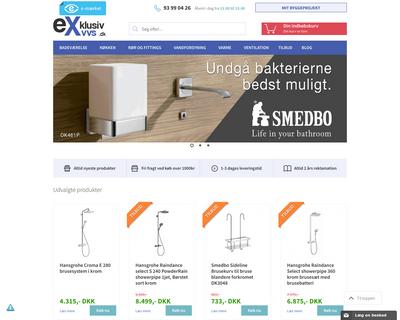exklusiv-vvs.dk website