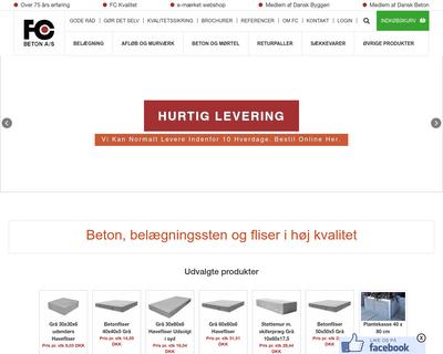 fc-beton.dk website