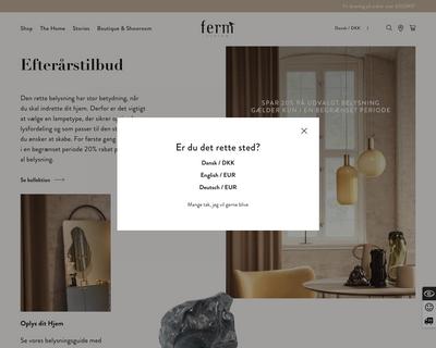 fermliving.dk website
