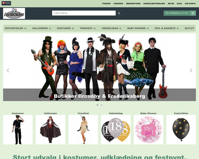 festbutikken.dk website
