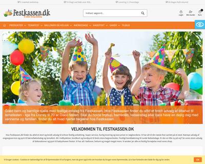 festkassen.dk website