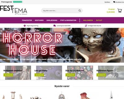 festtema.dk website