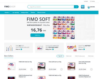 www.fimoshop.dk website