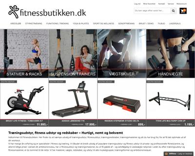 fitnessbutikken.dk website