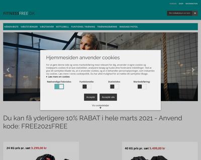fitnessfree.dk website