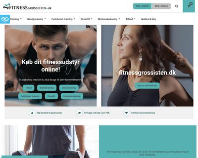 fitnessgrossisten.dk website