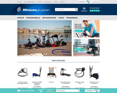 fitnessgruppen.dk website