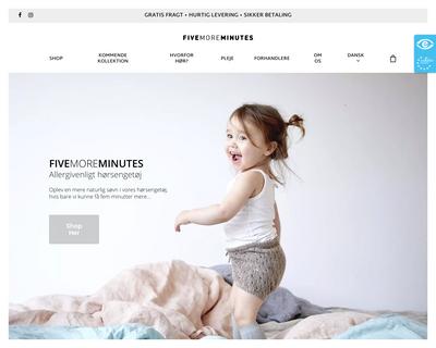fivemoreminutes.dk website