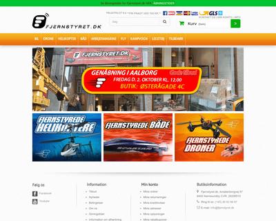 fjernstyret.dk website