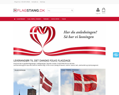 flagstang.dk website