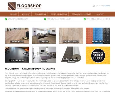 floorshop.dk website