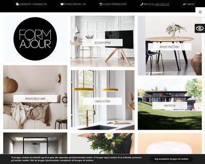 formajour.dk website