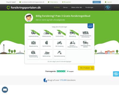 www.forsikringsportalen.dk website