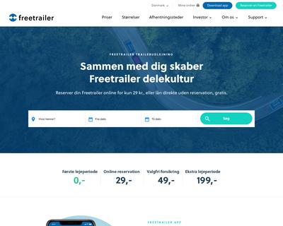 freetrailer.dk website