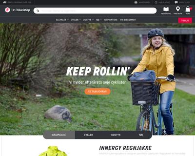 fribikeshop.dk website